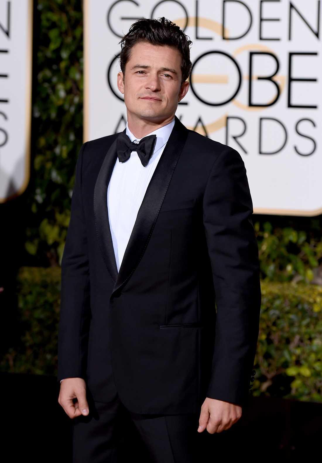 Orlando Bloom på Golden Globes award