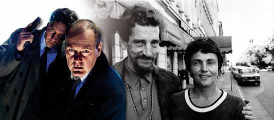 Per Wahlöö och Maj Sjöwall i Köpenhamn 1973. Samhällskritiken i Beck-böckerna svämmar över i hat mot socialdemokratin, skriver Åsa Linderborg. Mikael Persbrandt och Peter Haber som Gunvald Larsson och Martin Beck.