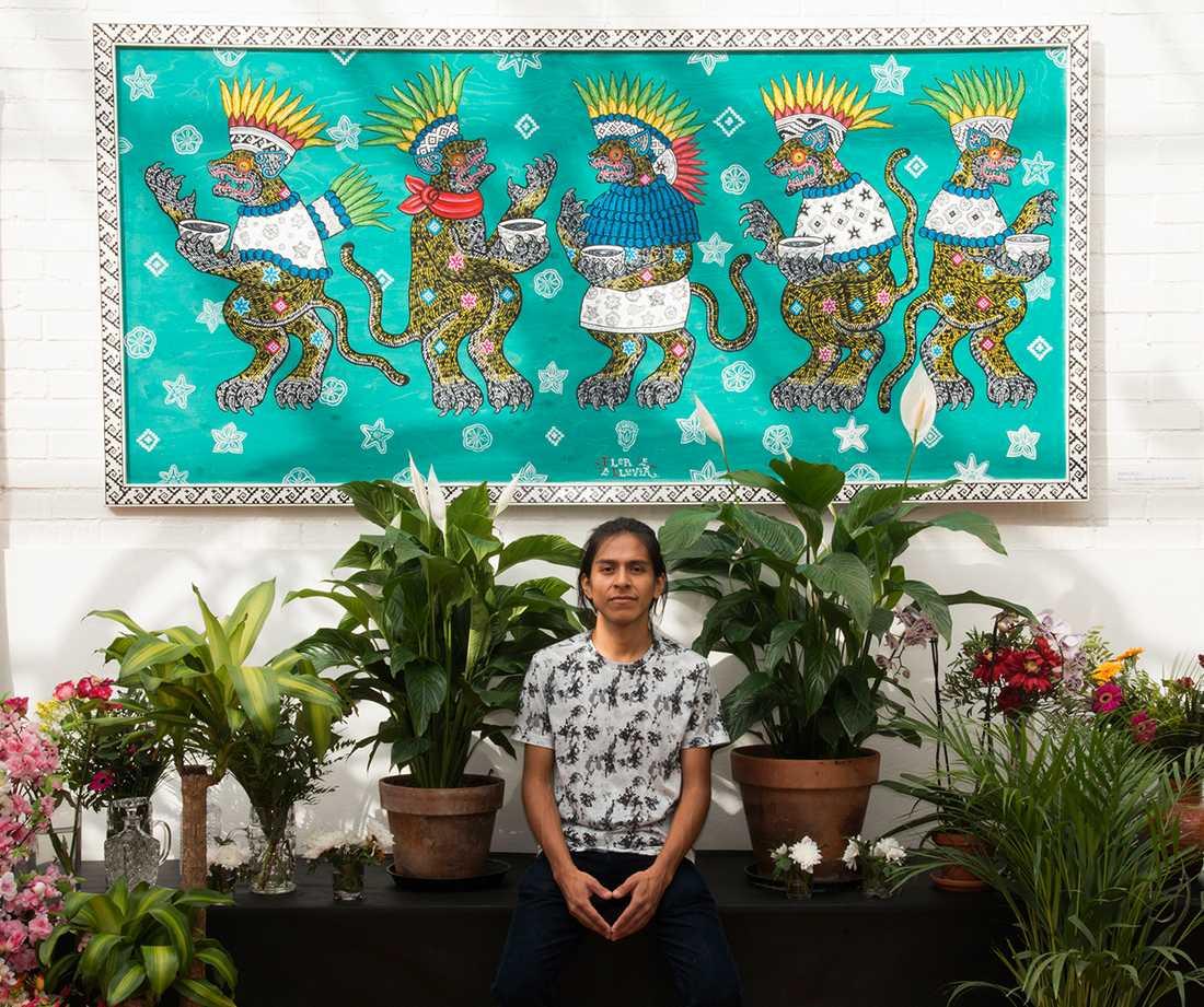 Konstnären Roberto Juarez Sanchez.