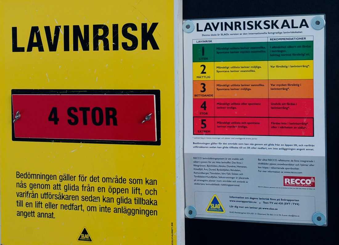 Risken för lavin är stor i de södra Jämtlandsfjällen efter det omfattande snöandet under måndagsnatten och tisdagen. Arkivbild.