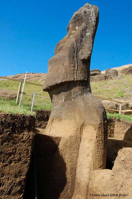 """""""Gubbarna"""" på Påskön har alltid varit kända för just det som de alltid har varit – en samling stenhuvuden. Nu visar det sig dock att de dessutom har tillhörande kroppar."""