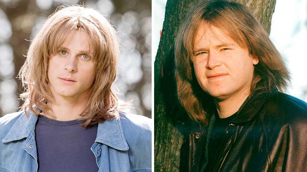 Adam Pålsson som Ted och Ted Gärdestad själv 1994.