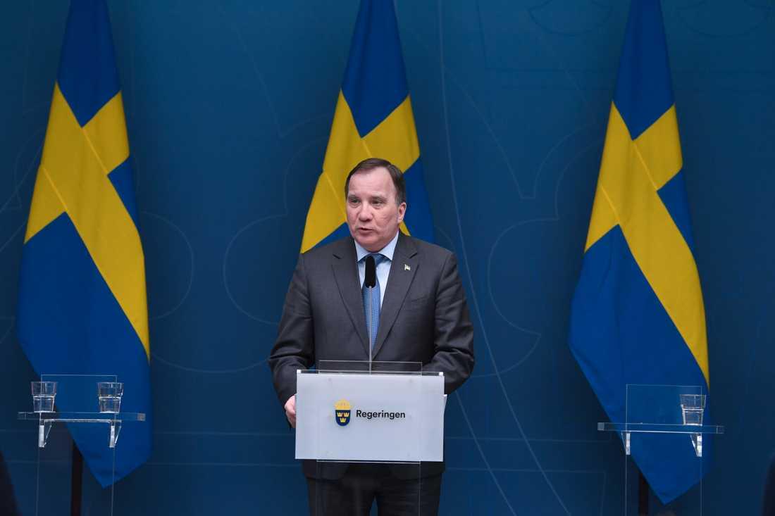 Stödet för Socialdemokraterna stiger kraftigt i Sifos senaste väljarbarometer. På bilden statsminister Stefan Löfven (S). Arkivbild.