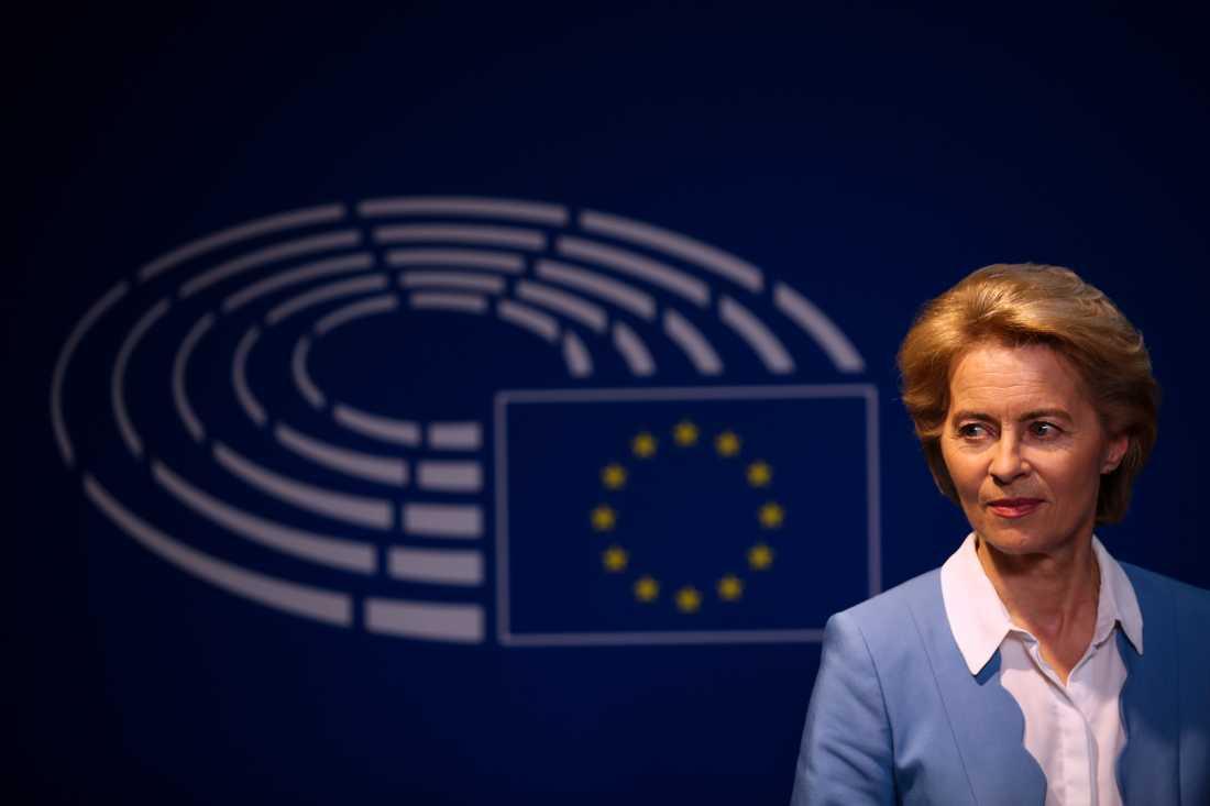 Tysklands försvarsminister Ursula von der Leyen föreslås bli ny ordförande i EU-kommissionen. Arkivfoto.