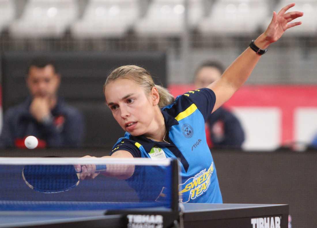 Linda Bergström vann sin första match i lag-EM mot Turkiet. Arkivbild.
