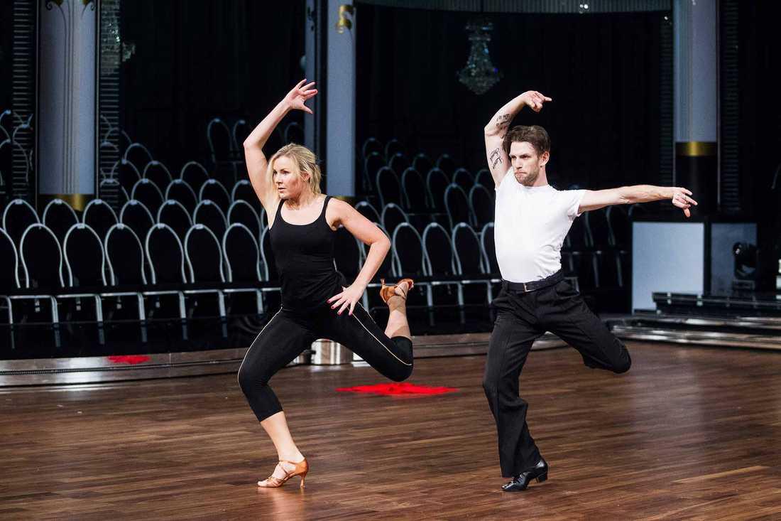 Elisa Lindström och danspartnern Yvo Eussen.