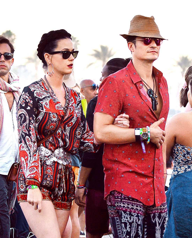 Orlando Bloom och Katy Perry på Coachella