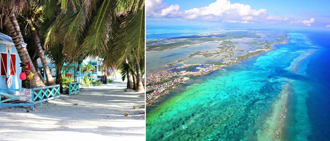Öarna utanför Belize fastland är riktiga paradis.
