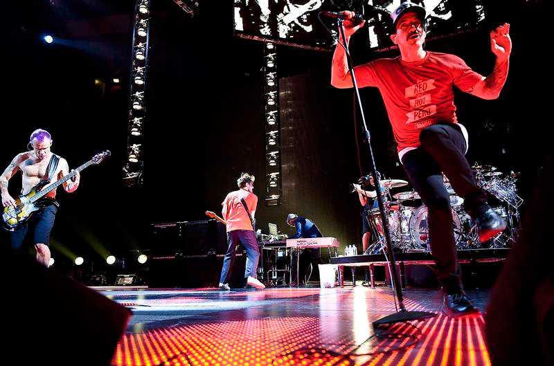 6 Rockbjörnar Funkiga rockbandet Red Hot Chili Peppers har vunnit pris för bästa utländska grupp fyra gånger och kammade hem en Rockbjörn för båda plattorna Californication (1999) och bästa låt 2002 för By The Way.