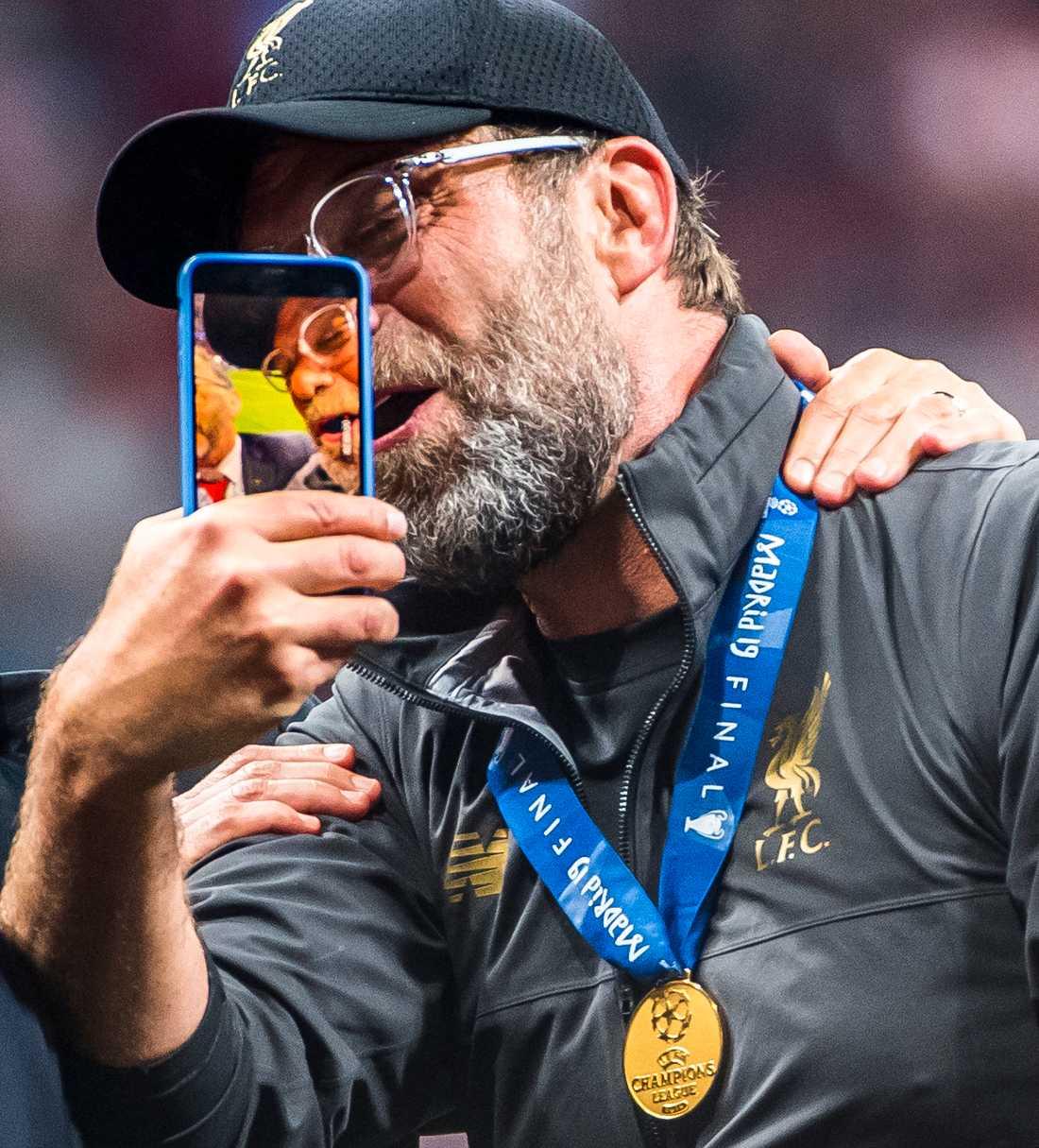 Jürgen Klopp efter Champions League-titeln 2019.
