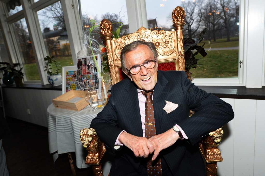 Arne Weise på sin 85-årsdag på Ulla Winbladh i Stockholm.