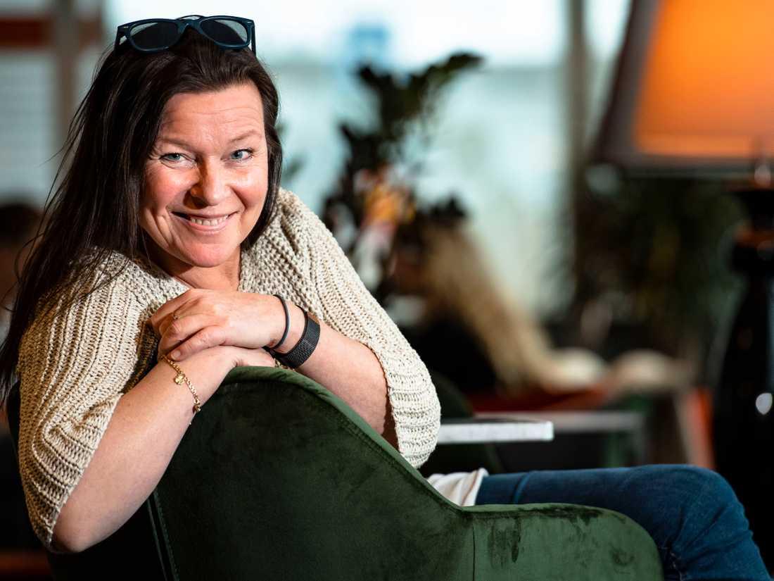 """""""Jag är inte tråkig"""", säger Lotta Engberg."""