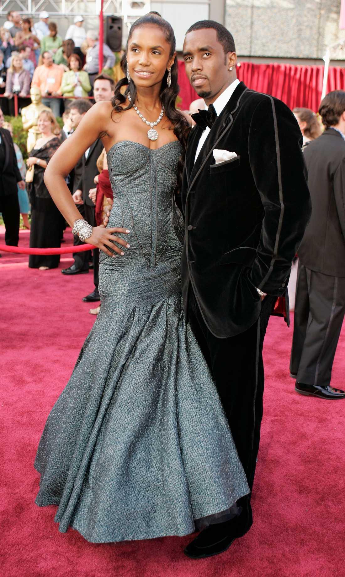 """Kim Porter och Sean """"Diddy"""" Combs på Oscarsgalan 2005."""