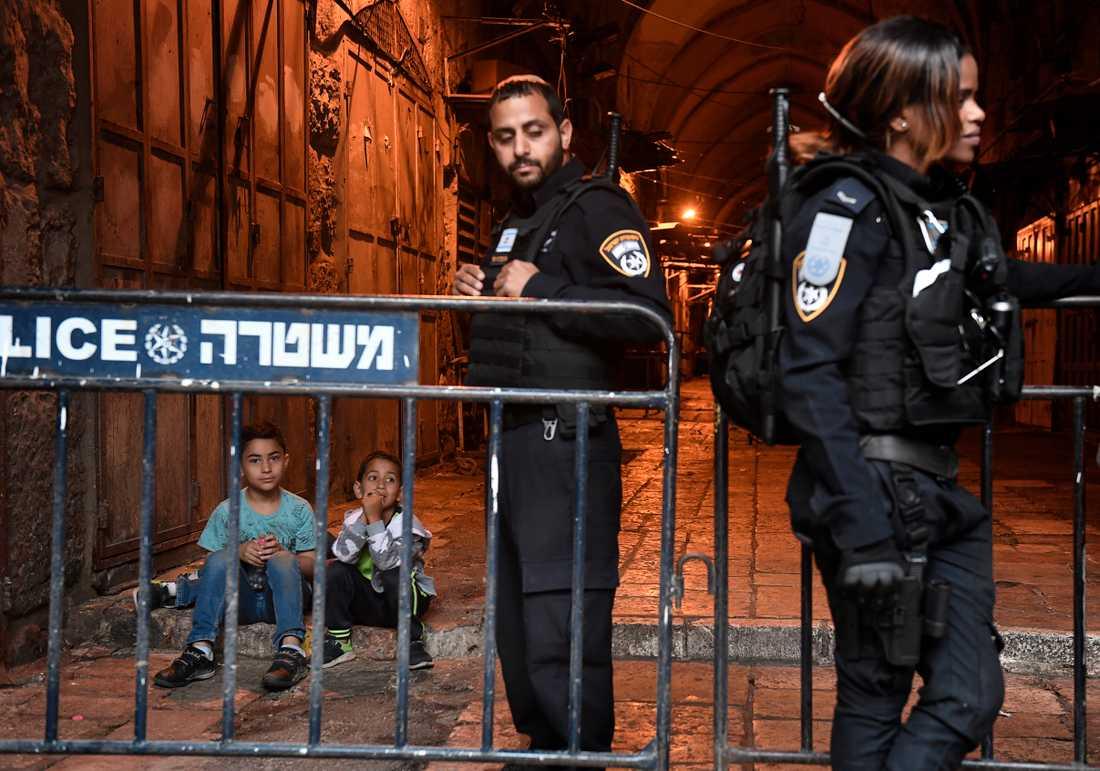 Ett hård bevakat Jerusalem.