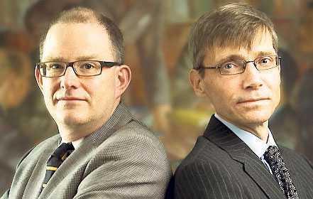 P J Anders Linder och Per Svensson har en bok ihop.