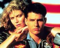 """Med Tom Cruise i """"Top Gun""""."""