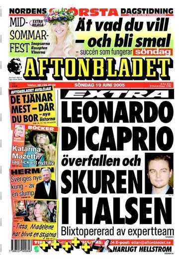 Gårdagens Aftonbladet.