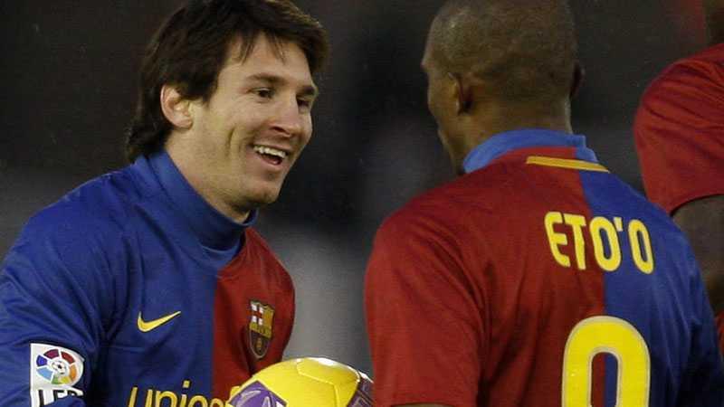 Succé Messi och Eto'o kan vara minst sagt nöjda med sin säsong med Barcelona.