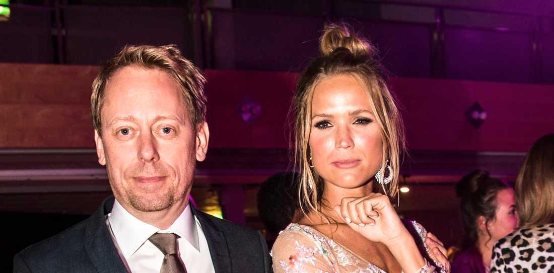 Marie Serneholt och Peter Settman på Kristallens efterfest.