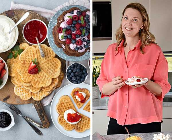 """Bak-och dessertkreaktören Emma Brink Rask från bloggen """"Brinken bakar"""" tipsar om goda våfflor."""