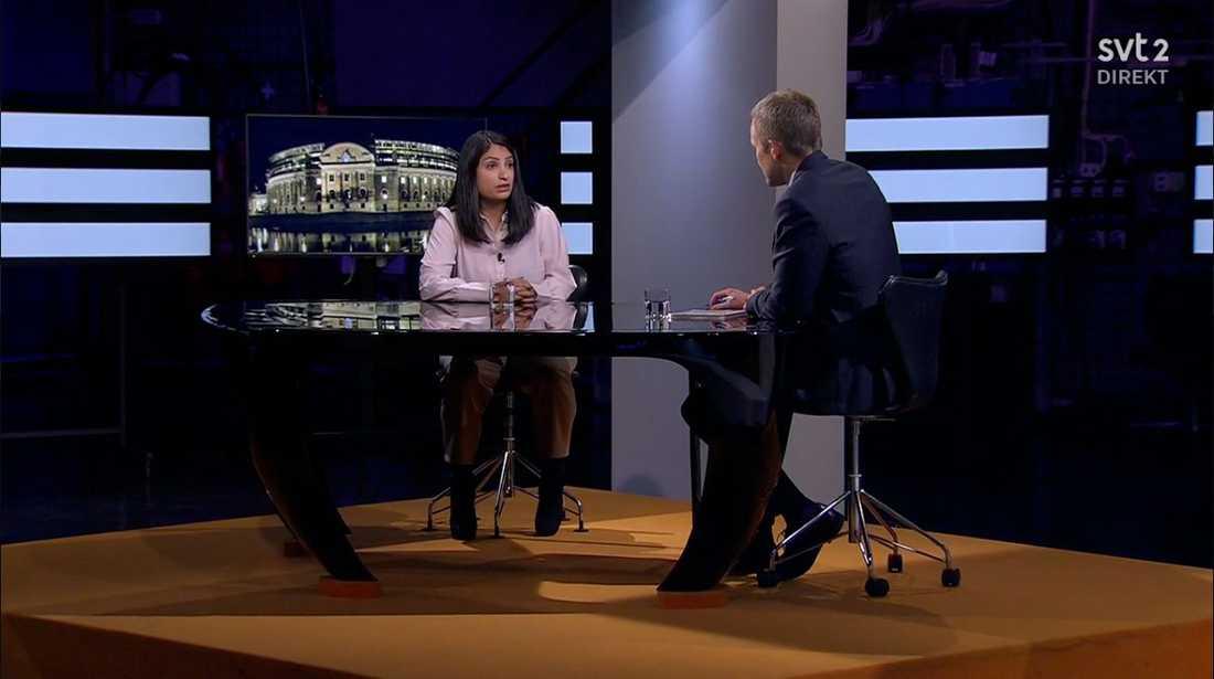 Nooshi Dagostar intervjuades i SVT Agenda på söndagskvällen.