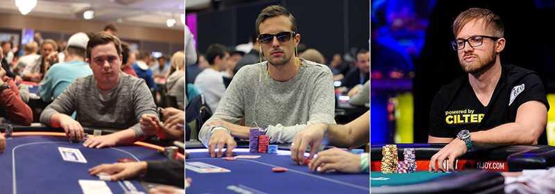 Jerry Ödeen (t.v.), Anton Bertilsson (mitten) och Martin Jacobson (t.h.) är de tre mest framgångsrika pokerspelarna hittills.
