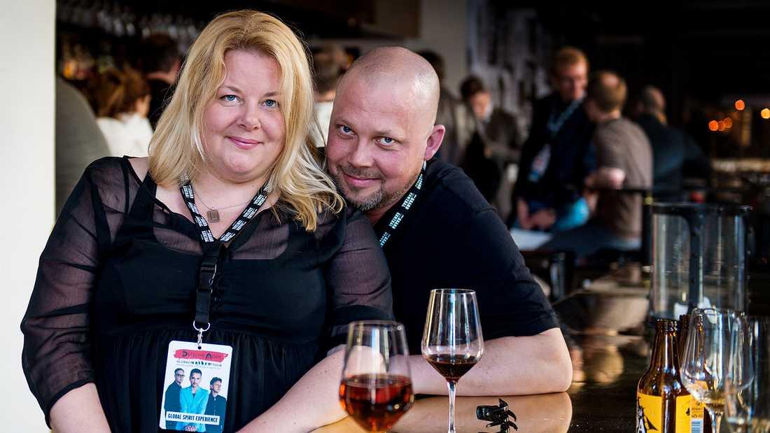 Depeche Mode-fansen Kicki Nordin och Stefan Oderstad.