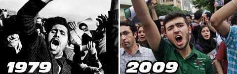 DÅ OCH NU För 30 år sedan tvingade ett folkligt uppror Irans härskare att avgå. I dag använder regimen samma argument som då: de som protesterar är betalda av främmande makt.