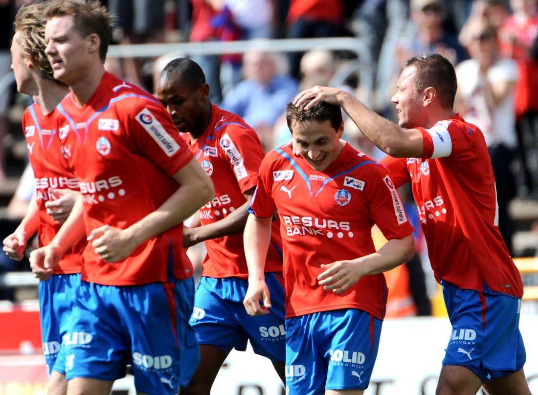 Ardian Gashi kramades om två gånger i Helsingborgs 2–1-seger.