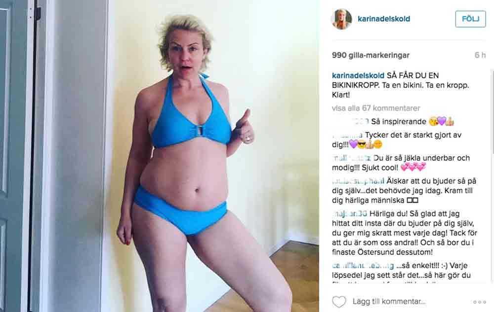Karin Adelskölds inlägg på Instagram.