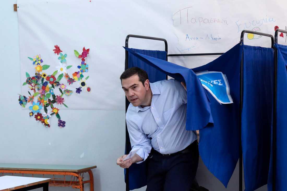 Premiärminister Alexis Tsipras och hans Syriza har lidit svidande valförluster. Nu väntar nyval i Grekland. Arkivbild.