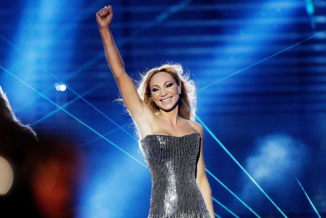 """2008 vann Charlotte Perrelli med """"Hero""""."""