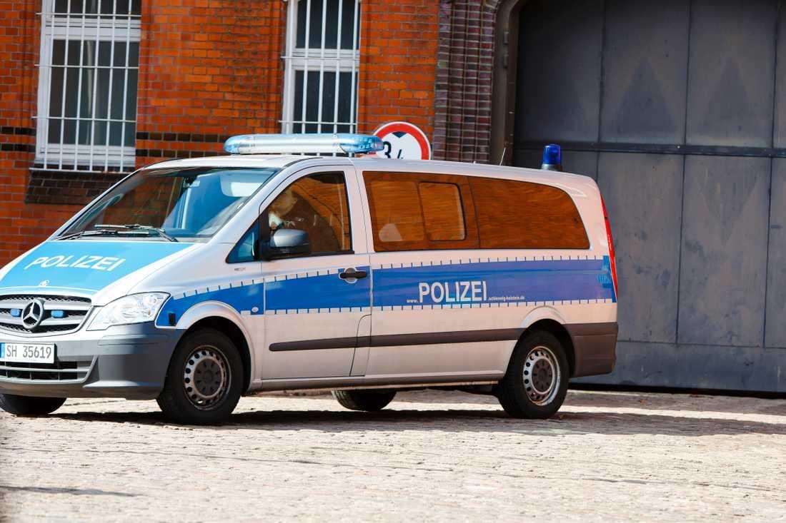 En tysk polisbil. Arkivbild.