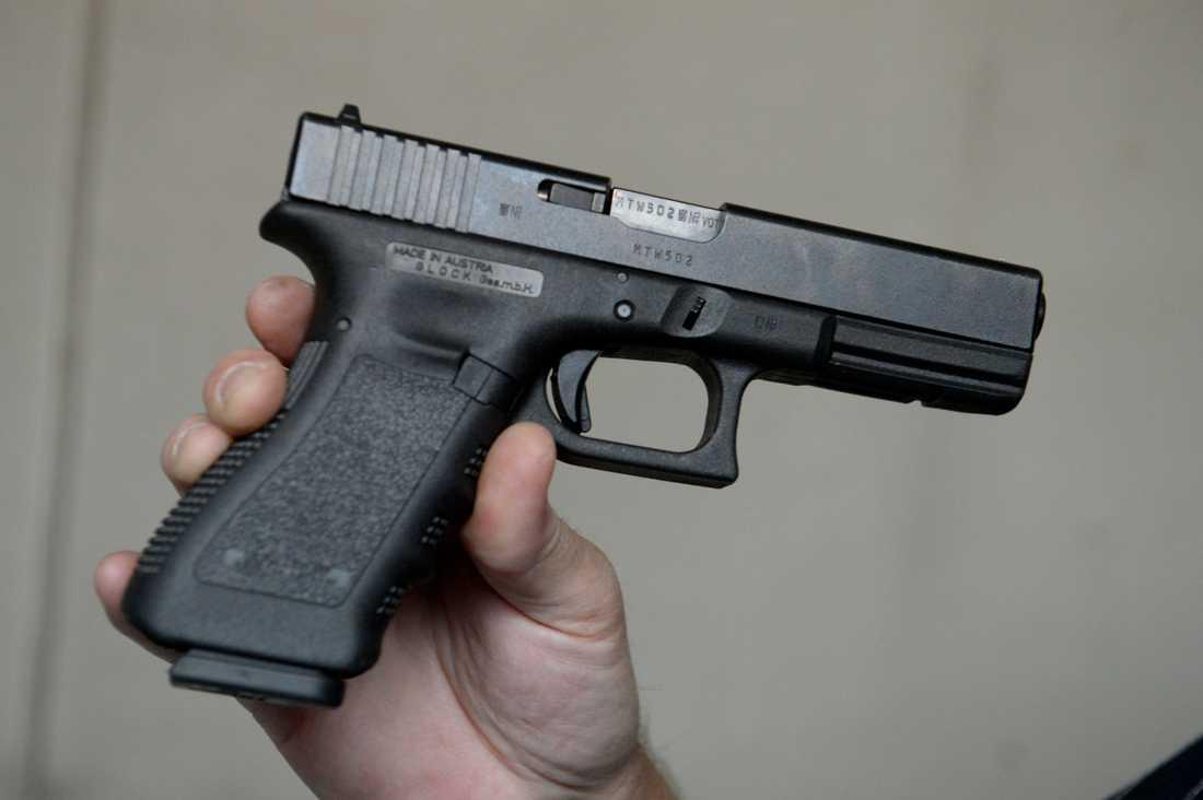 Ett vapen från tillverkaren Glock. Arkivbild.