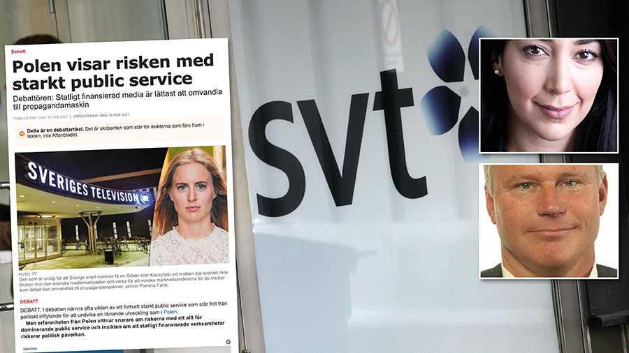 Problemet är inte ett starkt public service, utan partier som inte längre värnar dess oberoende och skydd. Replik från Lawen Redar och Hans Ekström.