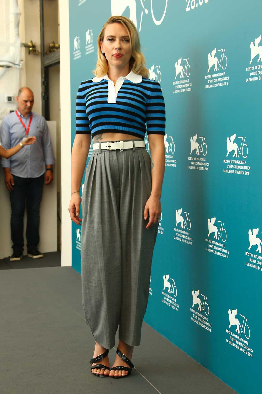 Scarlett Johansson på filmfestivalen i Venedig 2019