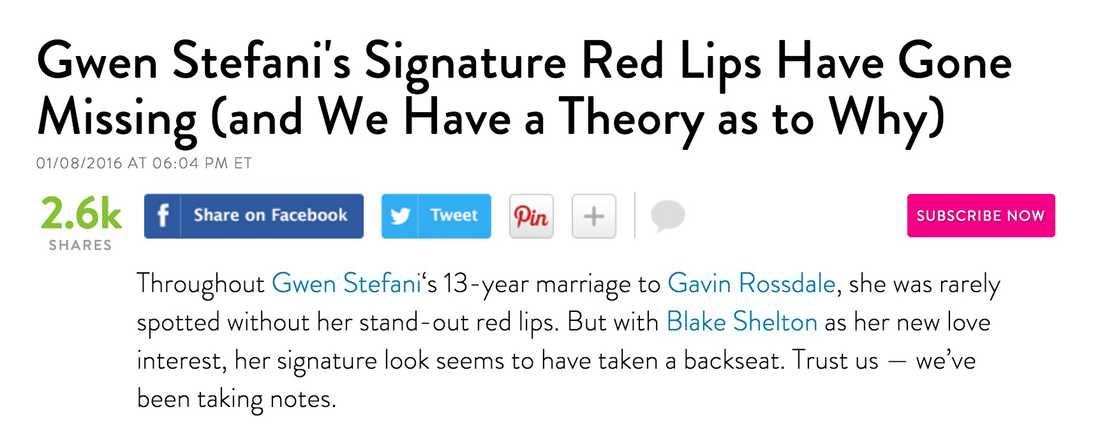 Bland annat tidningen People följer Gwens stilresa intensivt.