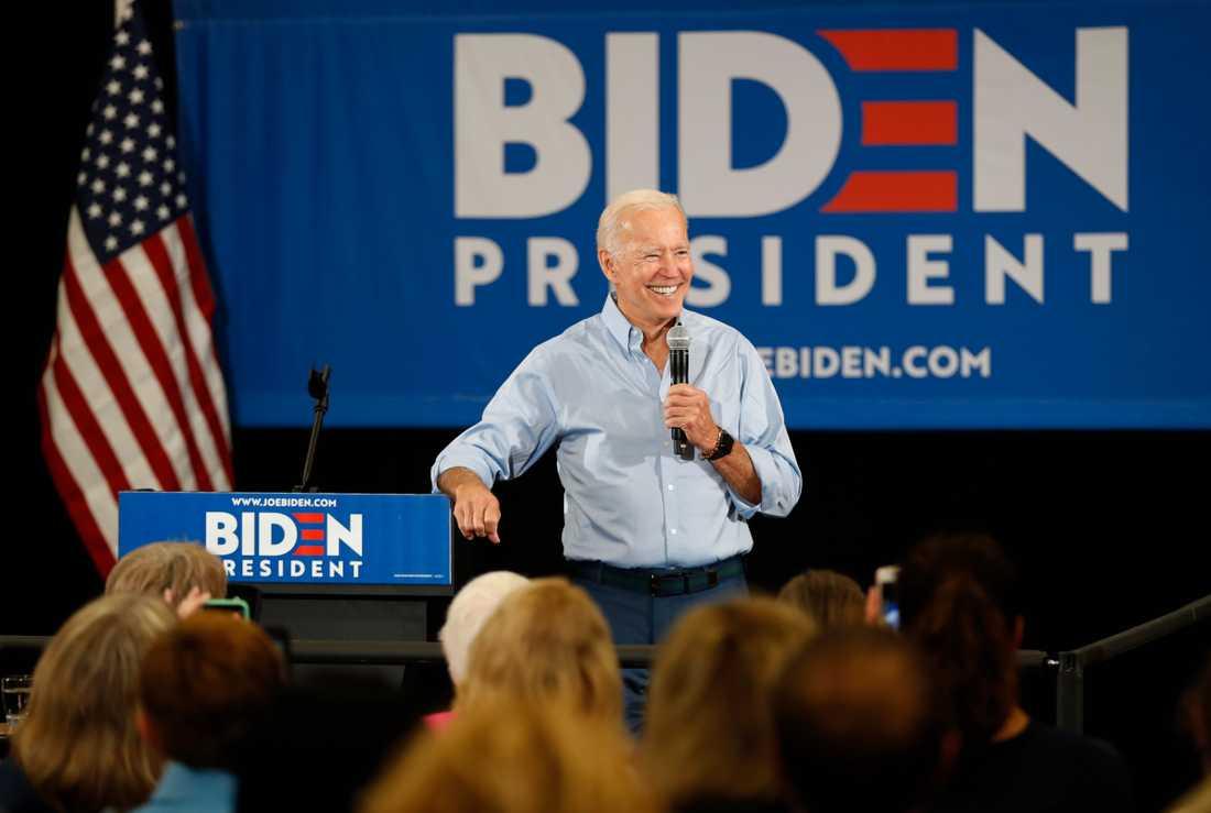 Presidentaspiranten och tidigare vicepresidenten Joe Biden kampanjar i Iowa.