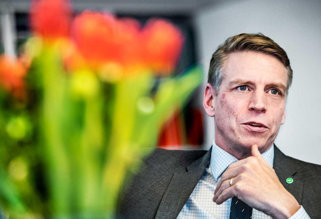 Finansmarknads- och konsumentminister Per Bolund har tackat ja till att nomineras som nytt språkrör för Miljöpartiet. Arkivbild.