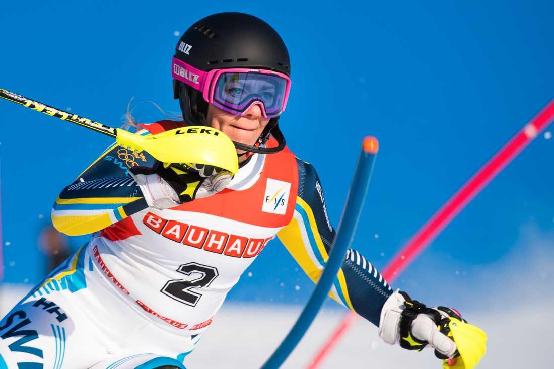 Frida Hansdotter tävlar i alpina VM i Åre, 5–17 februari 2019.