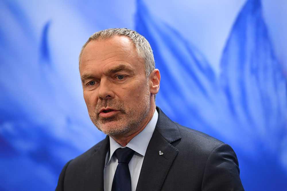 Jan Björklund under dagens pressträff