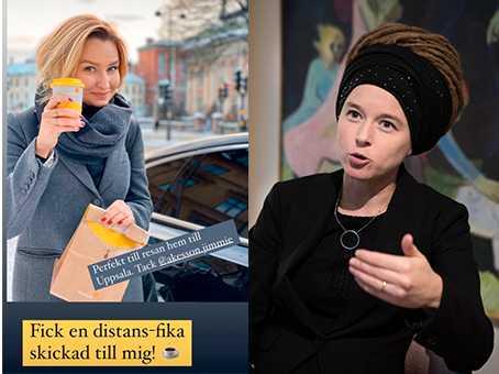 Ebba Busch tackar Jimmie Åkesson för födelsedagskaffe på Instagram. Kulturminister Amanda Lind skriver i samma forum hur hon hotas på SD:s Yotubekanal.