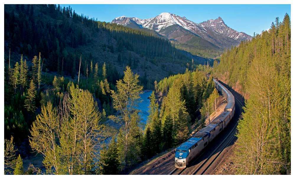 Med Amtrak kan du tågluffa kust till kust i USA.