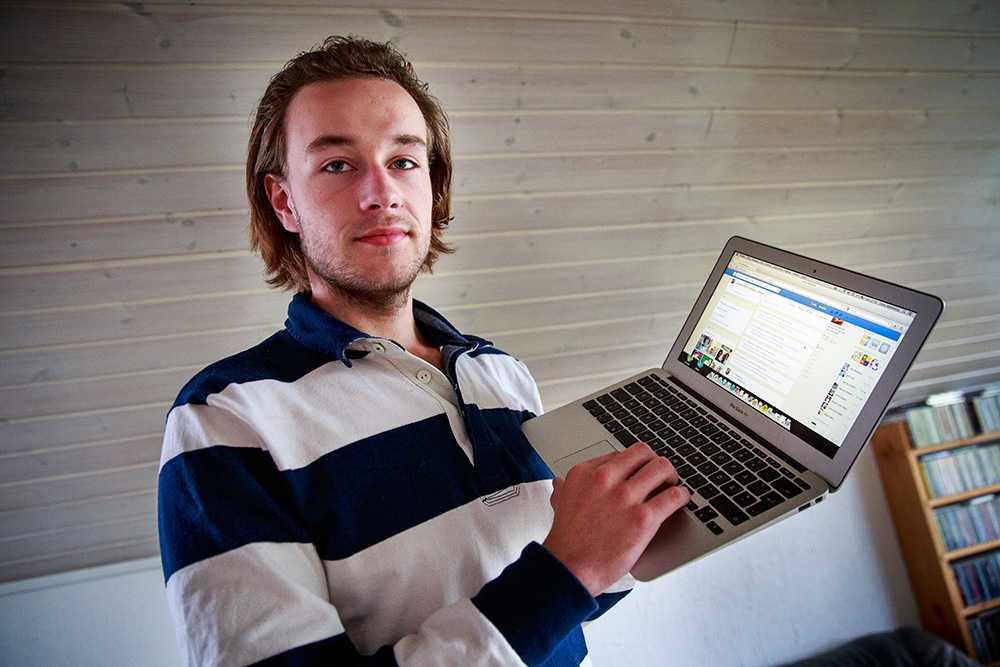 Linus Malmbergs identitet blev stulen av den misstänkte nätbedragaren.