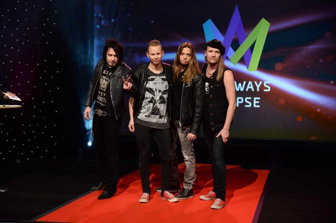 Hårdrocksbandet Eclipse är debutanter i Melodifestivalen.