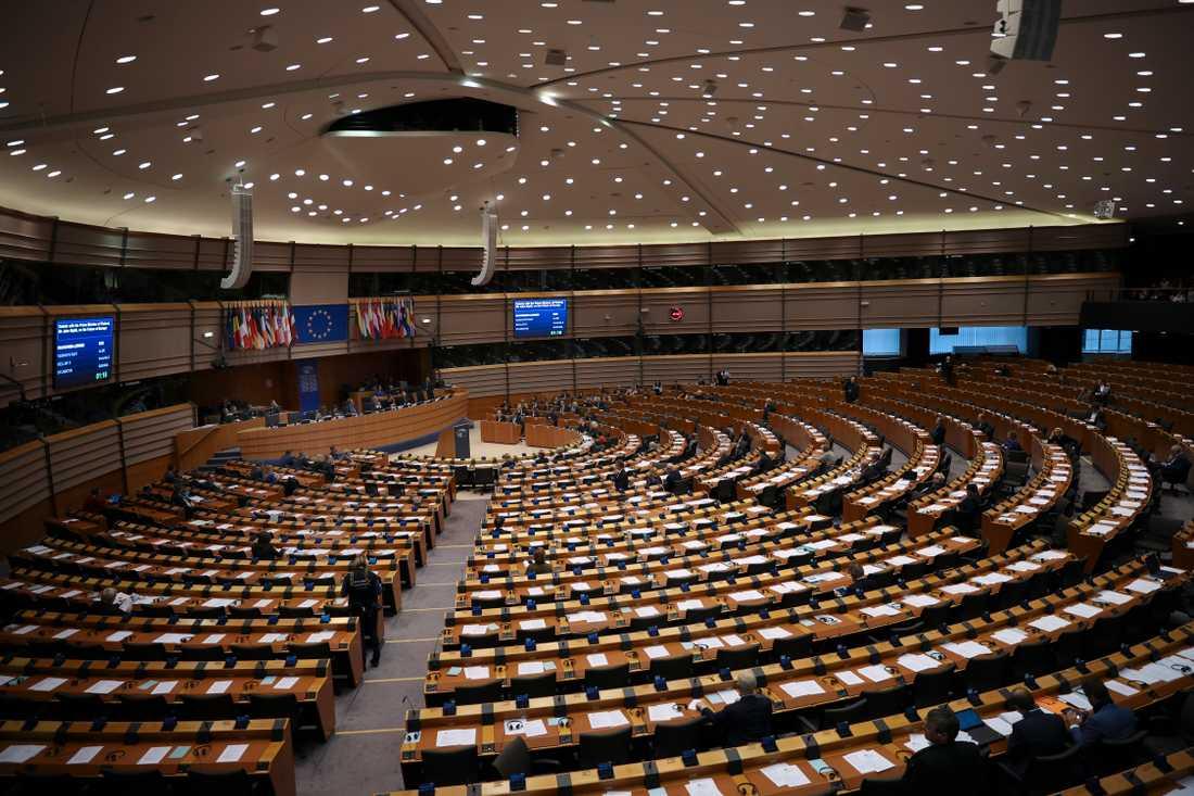 EU-parlamentet är enligt statsvetaren Magnus Blomgren Europas mest centrala politiska arena. På bilden syns EU-parlamentariker samlas i Bryssel för plenarsammanträde i slutet av januari. Arkivbild.