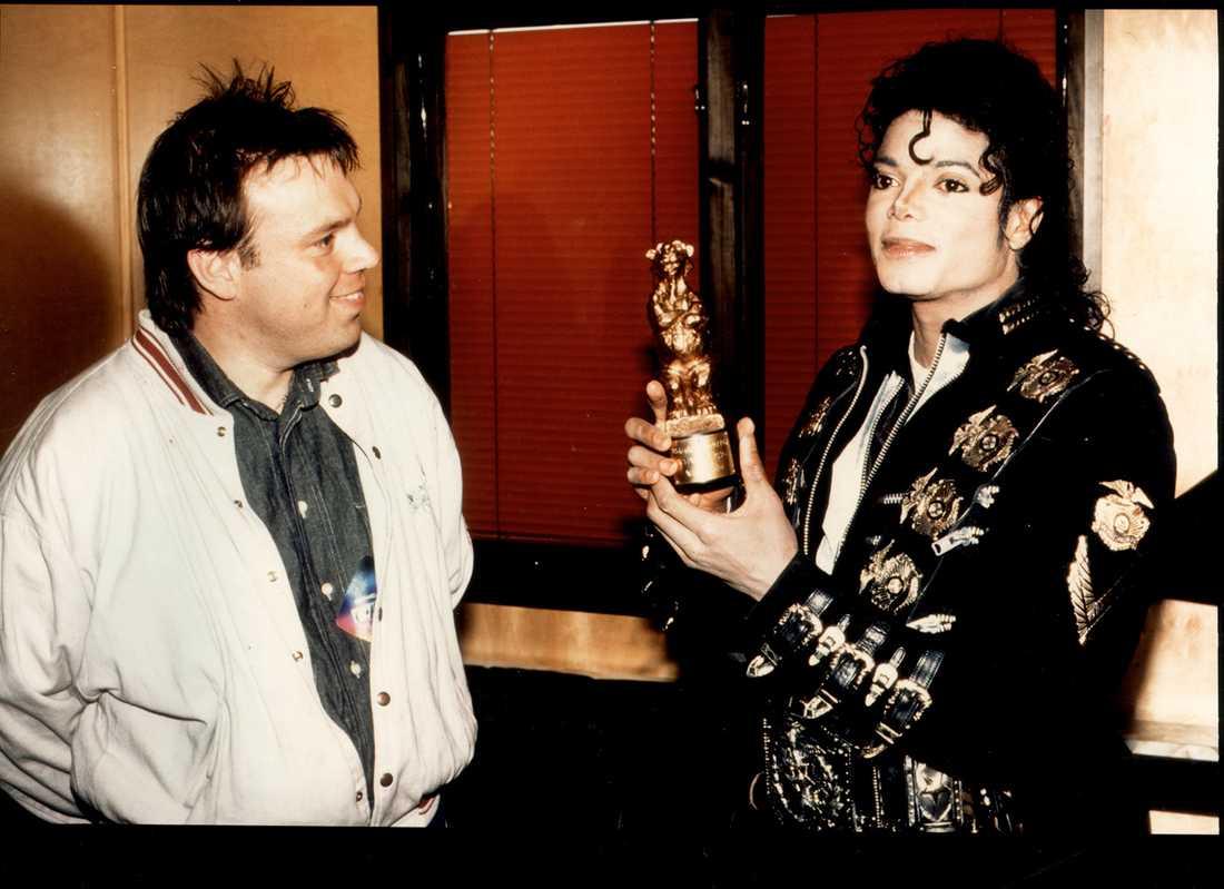 Michael Jackson får 1988 sin Rockbjörn.