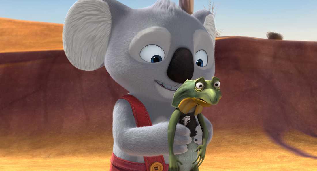 Koalan Blinky med ödlekompis.