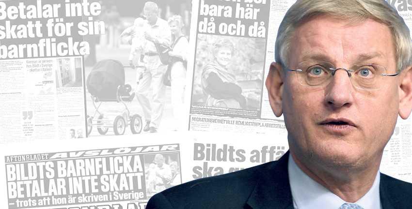 """""""DET KAN VARA ETT BROTT"""" Aftonbladet avslöjade för ett år sedan att Carl Bildt och hans fru Anna Maria Corazza Bildt inte betalat arbetsgivaravgifter för sin ukrainska barnflicka. Kvinnan, som är folkbokförd hos paret, har inte heller betalat skatt i Sverige för sina inkomster."""