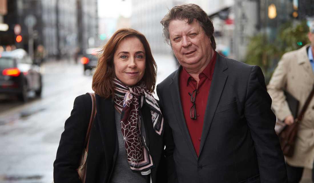 Sofie Gråbøl med Nöjesbladets Jan-Olov Andersson.